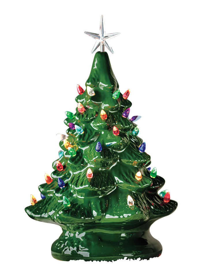 Ceramic Christmas Tree With Lights.Ceramic Christmas Tree